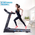 WELCARE WC2266, 4 Hp Peak DC Motorized Folding Treadmill with LCD Display