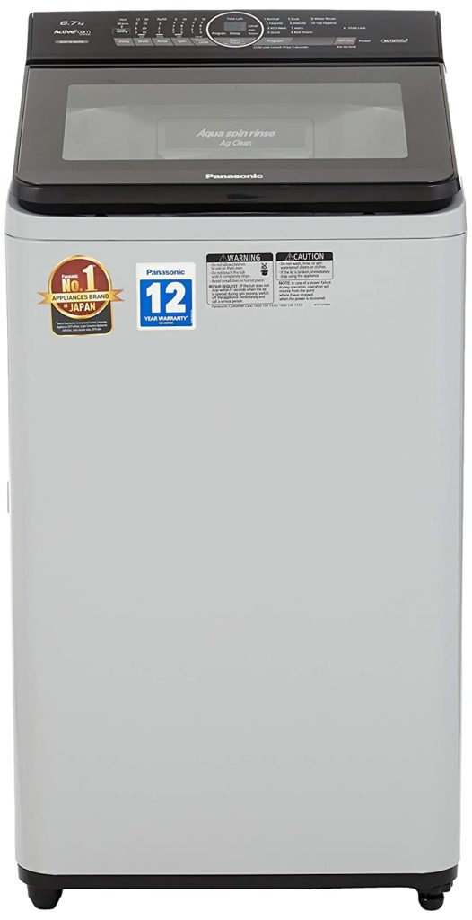 Panasonic 6.7 kg Built-in Heater Fully-Automatic Top Loading Washing Machine